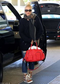 Weekend getaway! Gwen Stefani heads off for a weekend spa break with her two sons on Friday
