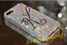 iPhone 6 Plus Case swarovski Crystal persolize Phone Case iPhone 5 Case sparkly initial iPhone Case iPhone 6 Cover Galaxy note 4 Case Leather Cell Phone Cases, Girly Phone Cases, Ipod Touch Cases, Iphone Phone Cases, Iphone 5s, Make A Phone Case, Phone Covers, Iphone 8 Plus, Prepaid Phones