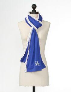 University of Kentucky Women's Clothing   The University of Kentucky Ruffled Scarf