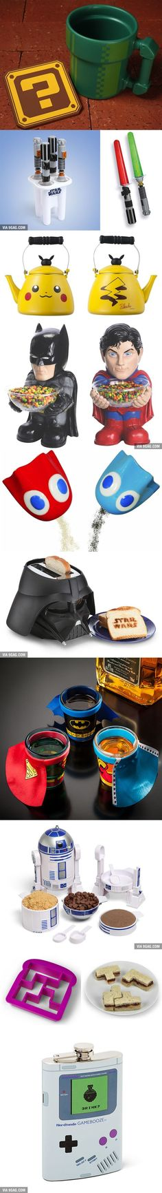 10 Things Geek Must Have In Their Kitchen. - 9GAG - we were totally drooling over these with my fiancee :D