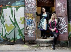 Peach Berserk mother and daughter, and Toronto graffiti.