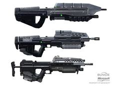 UNSC Assault Rifle by Rhizus on CGHUB - Halo 3 concept design for rifles Sci Fi Armor, Sci Fi Weapons, Armor Concept, Weapon Concept Art, Fantasy Weapons, Weapons Guns, Anime Weapons, Halo Ships, Halo Cosplay