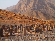 A cemetery in Wadi Rawdah, Oman