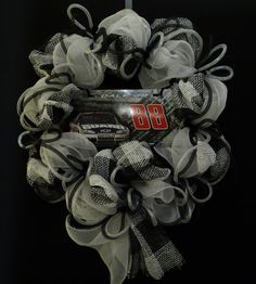 Race time is coming like this one....Nascar Decor Dale Earnhardt Jr Nascar Wreath by wreathsbyrobin, $55.00