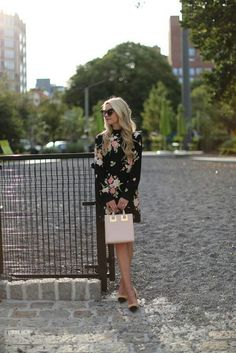 Dress (also love this one). Bag: Sophie Hulme (love the polka dot one here). Sunglasses: Karen Walker. Watch:Cluse. Shoes: Zara. Nails: