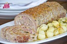 Meatloaf with potatoes - Polpettone al forno con patate - Ricetta di Pronto in Tavola