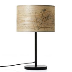 Oakland Table Lamp Black Veneer