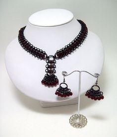 necklace earrings gift idea for her by Eternalelfcreations on Etsy, $45.00