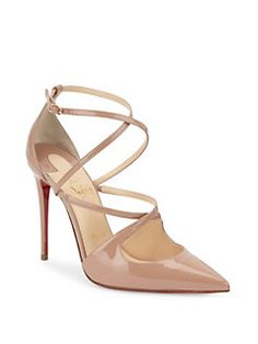 Christian Louboutin Crossfliketa 100 Leather Pumps In Nude Nude Shoes, Stiletto Heels, Shoes Heels, Fab Shoes, Stilettos, Pretty Shoes, Beautiful Shoes, Splendid Shoes, Christian Louboutin Shoes