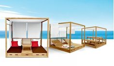 cabana bed plans - Google Search