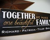CUSTOM wood FAMILY SIGN, personalized with your name and established year (branch). $45.00, via Etsy.