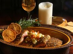 Smothered Pork Loins in Rosemary/Orange Dust and Apple Compote #recipe   Carefree Cooking Magazine