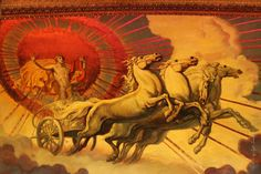 Apollo Pulling the Sun | the quadriga was a four horse chariot first driven by the titan god ...