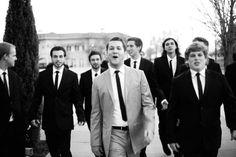 Going to the chapel..Christopher and groomsmen..Bradley far left., 2011