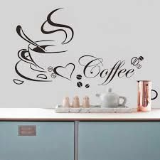 Removable Vinyl Wall Decals Coffee Cup With Heart Vinyl Quote Restaurant Kitchen Removable Wall Stickers DIY Home Decor Wall Art MURAL Drop Shipping Vinyl Tree Wall Decals Vinyl Mural Wall Art, Vinyl Wall Art, Home Decor Wall Art, Diy Home Decor, Window Mural, Cafe Window, Decor Crafts, Removable Vinyl Wall Decals, Vinyl Wall Stickers