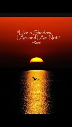 Like a shadow, I am and I am not. - Rumi poetry persian sufi master and sage Spiritual Awakening, Spiritual Quotes, New Age, Rumi Love Quotes, Libra Quotes, Rumi Poetry, Buddha, Under Your Spell, Oldschool
