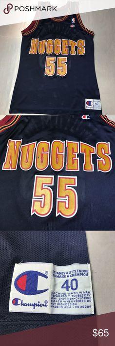 Denver Nuggets Dikembe Mutombo Champion Jersey Men s Denver Nuggets Dikembe  Mutombo Champion Jersey. Size 40 17f5319e0