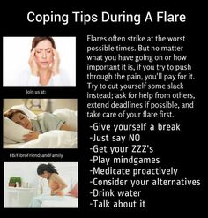 Coping Tips During A Flare