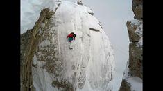 S&S Wallride at Jackson Hole, 85 Foot Cliff Front Flip, Skiing Drone Powder