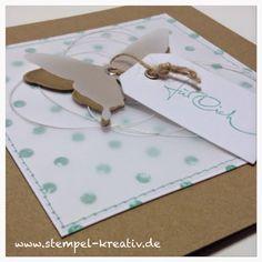 Kreativ Karten gestalten: Ein Schmetterling für Dich ...