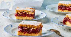 A klasszikus meggyes pite | Street Kitchen Sour Cherry, Naan, Cake Cookies, Summer Recipes, French Toast, Sweets, Breakfast, Seasons, Foods