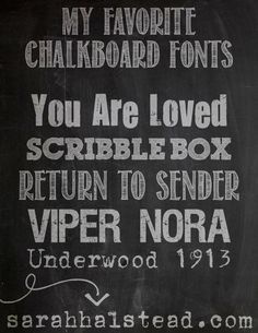 Favorite Free Chalkboard Fonts from In the Moment with...