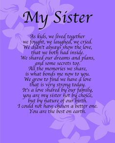 Sister poems that comes from the heart if you would like to call personalised my sister poem birthday anniversay leaving christmas gift present sciox Image collections