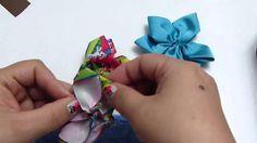 Como decorar balacas para el cabello paso a paso con flores en cinta