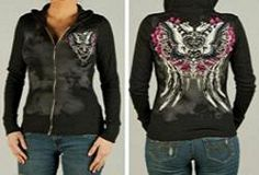 BUTTERFLY ANGEL WINGS TRIBAL WOMENS HOODIE FOR HARLEY DAVIDSON RIDING