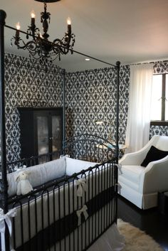 Gorgeous nursery for Mario Lopez' son by @Bratt Decor - #blackandwhite