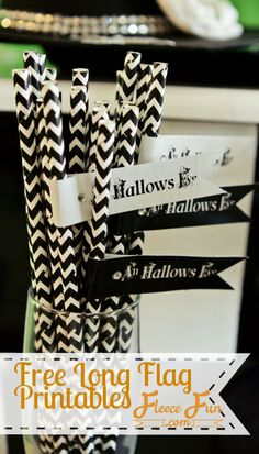 Free Halloween Printable Long Flags {All Hallows Eve} photo