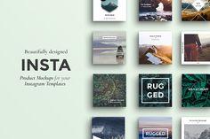 INSTA - Instagram Product Mockups by Paul van Oijen on @creativemarket