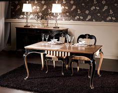 Mesa de comedor extensible clásica Valois de lujo en Portobellodeluxe.com. Tu tienda de muebles de lujo