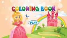 Mermaid Princess Colorbook Drawing To Paint Coloring Game For Kids