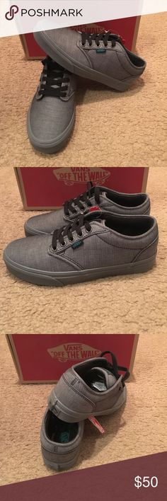 Vans Atwood Textile Sneakers New in box. Black/parasailing. Women's 8 men's 6.5 Vans Shoes Sneakers