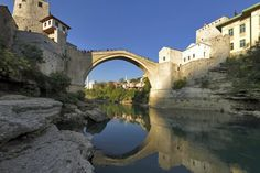 The world-famous Stari Most - Mostar, Bosnia - Learn bridge diving