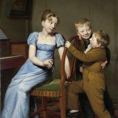 Piano Practice Interrupted, Willem Bartel van der Kooi, 1813 - Rijksmuseum