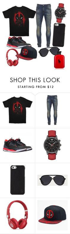 """""""guy deadpool"""" by rubybaby1010 ❤ liked on Polyvore featuring Marvel, Scotch & Soda, NIKE, Emporio Armani, Polo Ralph Lauren, Bally, Beats by Dr. Dre, men's fashion and menswear"""