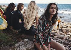 """One Summer"" (Vogue Australia, February 2016)   Model: Amanda Wellsh. Photography: Benny Horne. Styling: Christine Centenera. Hair: Sophie Roberts. Make-up: Kellie Stratton."