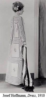 Josef HOFFMANN (1870-1956) Dress design, 1910 Execution: Wiener Werkstätte Photograph from a Wiener Werkstätte fashion album