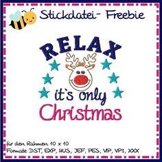 Stickdatei Freebie von binimey Christmas Weihnachten