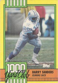 Barry Sanders 1000 Yard Club Football by FloridaFindersSports, $5.00