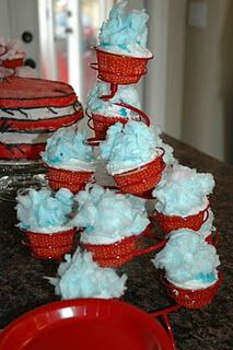 Thing 1 and Thing 2 Dr. Seuss party idea