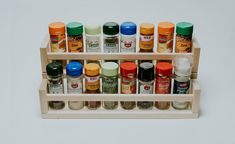 Hi, my name is Dominik and I created this hack for a lovely spice organizer or spice stairs, as I like to call it. It uses no other materials except 2 IKEA BEKVÄM spice racks. Materials: IKEA BEKVÄM s Ikea Spice Rack, Wooden Spice Rack, Spice Racks, Kitchen Organisation, Spice Organization, Bathroom Organization, Organizing Ideas, Kitchen Storage, Ikea Office
