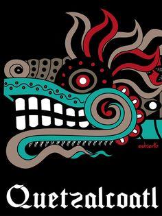 Quetzalcoatl bn por Adrian Acosta Meza South American Art, Native American Art, Maya Design, Mayan Tattoos, Mayan Symbols, Aztec Symbols, Aztec Culture, Chesire Cat, Aztec Warrior
