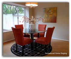 Dining Room with Orange accents