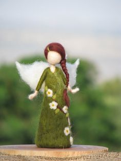 Needle felted doll  waldorf inspired - An apple tree fairy from Made4uByMagic on Etsy