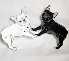 French Bulldog paper dolls!