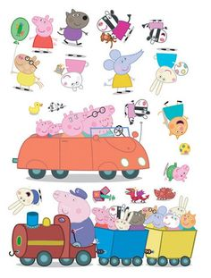 Peppa Pig Self-Adhesive Wall Stickers - 20 Pieces