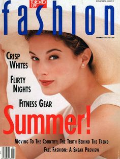 SUMMER 1992    Who: Model Carolyn Murphy      What she's wearing: Tank from J. Crew. Earrings from Vendome. Hat from Vitamine Chic.      Credits: Photographed by George Whiteside. Hair and makeup by D'Jurkin for Civello.
